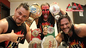 El campeonato de tercias AAA en juego en Triplemanía XXIII