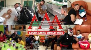 Los luchadores de Triple A llevaron sonrisas al Instituto Nacional de Pediatría